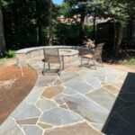 Flagstone Pathway Fire Pit