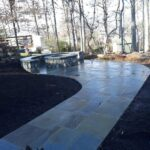 Flagstone Patio Fireplace Built-in