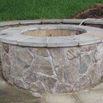 Round Irregular Stone Fire Pit Design
