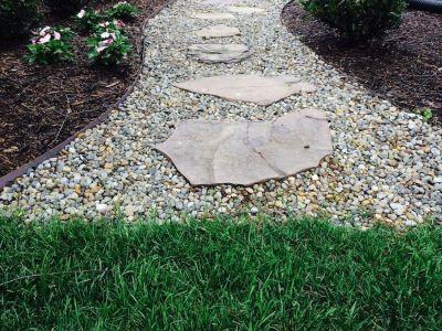 Stepping Stone Walkway Smith Landscaping Beloit Ohio