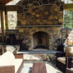Outdoor Fire Place and Stone Veneer