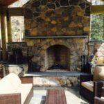Outdoor Firepit Stone Veneer