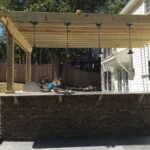 Outdoor Kitchen and Bar Area