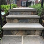 Outdoor Stone Entrance Steps