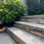 """Stone Steps with 2"""" thermal treads"""