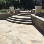 Stone Steps and Irregular Stone Patio