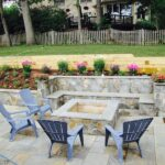 Patio With Seat Wall And Fire Pit