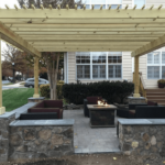 Gas Fire Pit and Pergola Installation