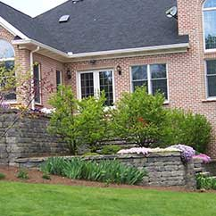 Retaining walls with stairs