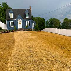 Soil and turf installation