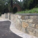Stone Wall with Caps