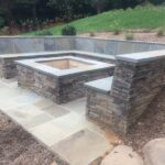 Stone Fire Pit and Outdoor Seating