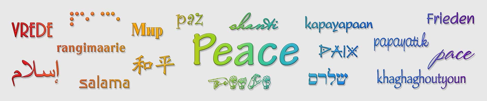 Peace in Multiple Languages