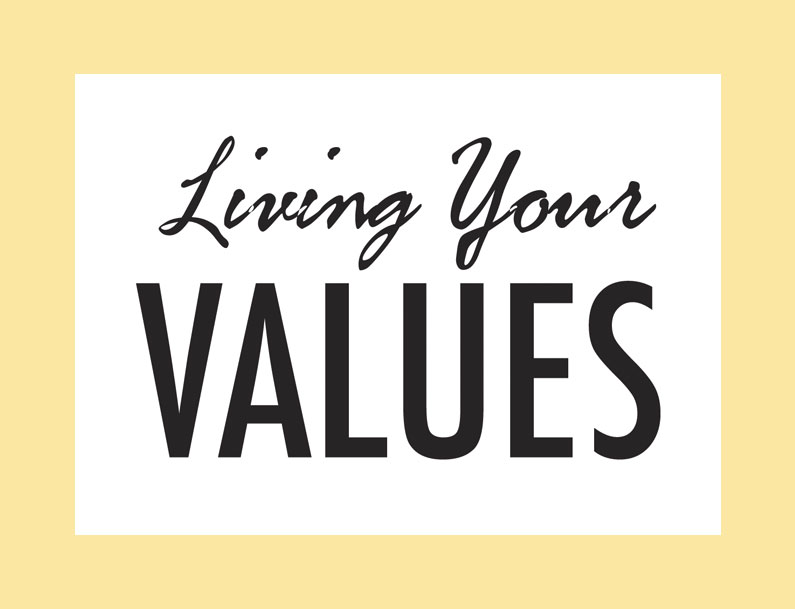 Living Your Values Materials