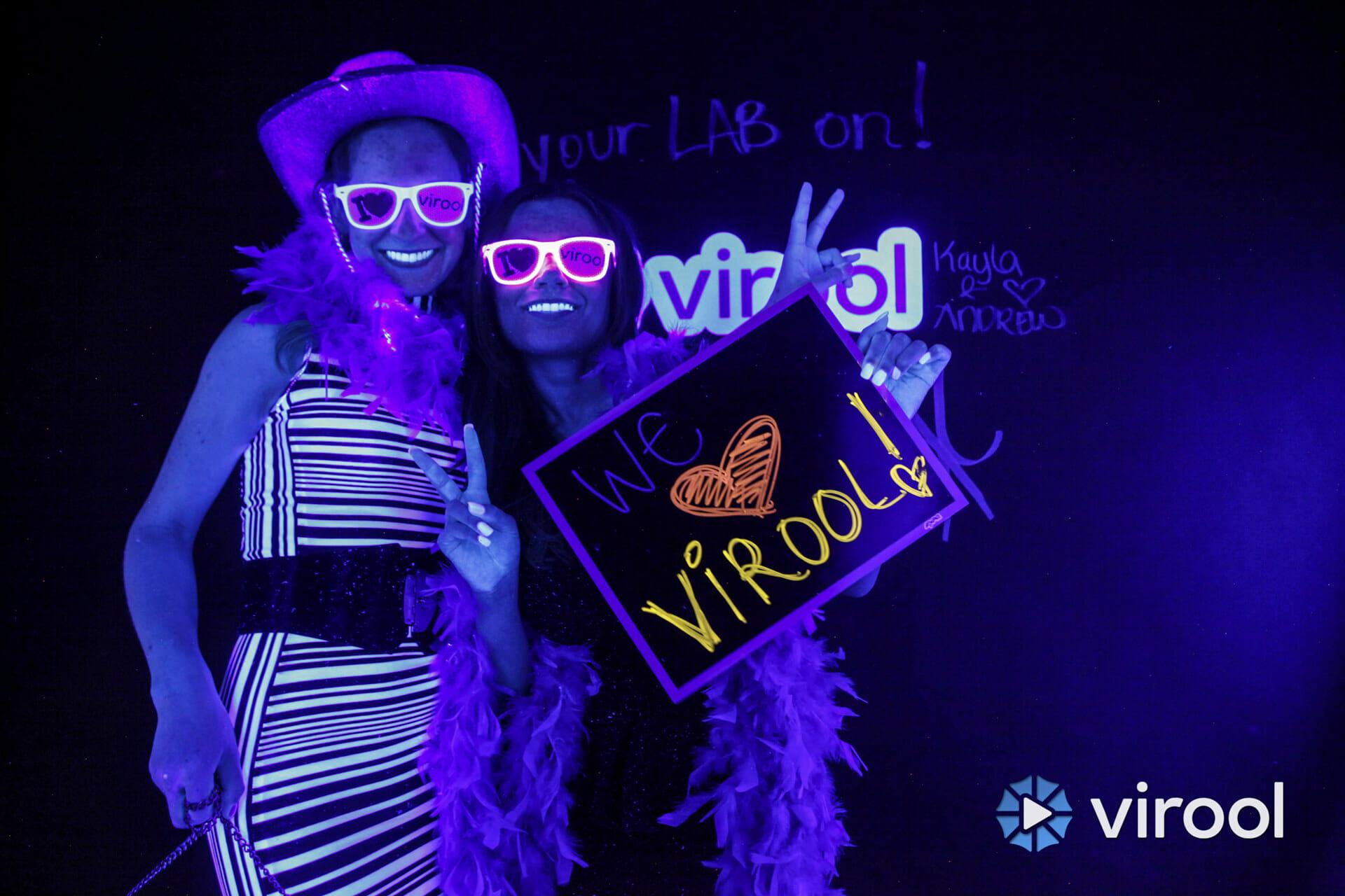 Virool Black Light Photo Booth
