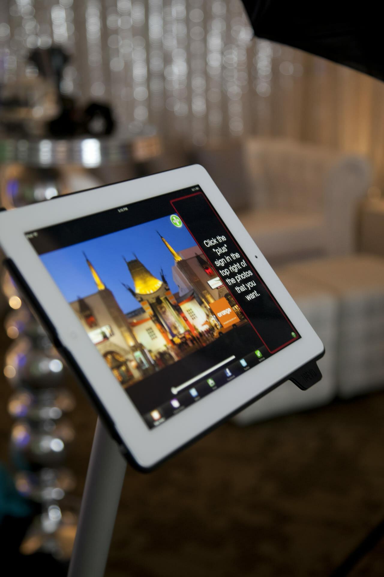 iPad photobooth interface