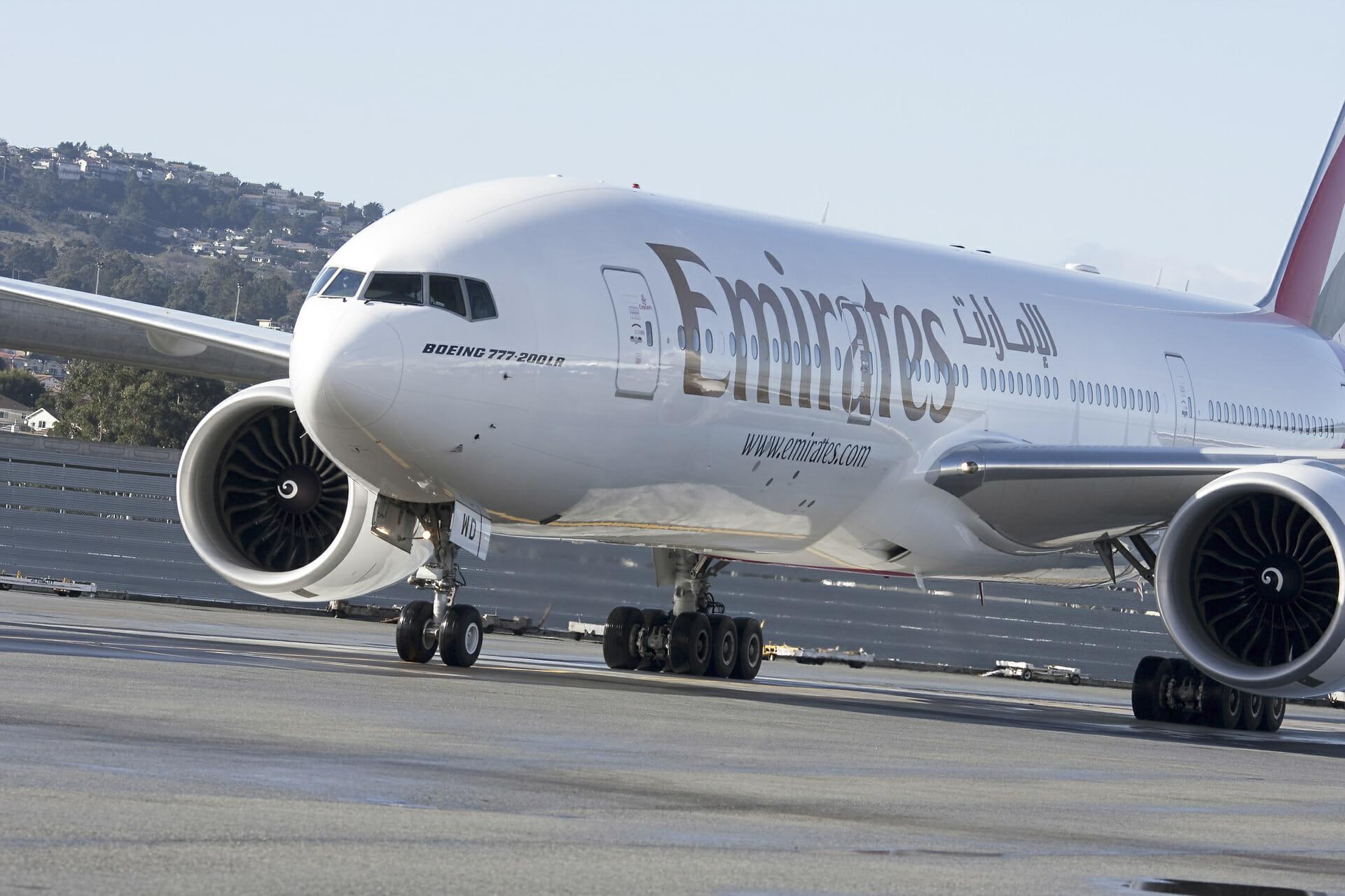 Emirates Air Inaugural Flight on SFO Tarmac