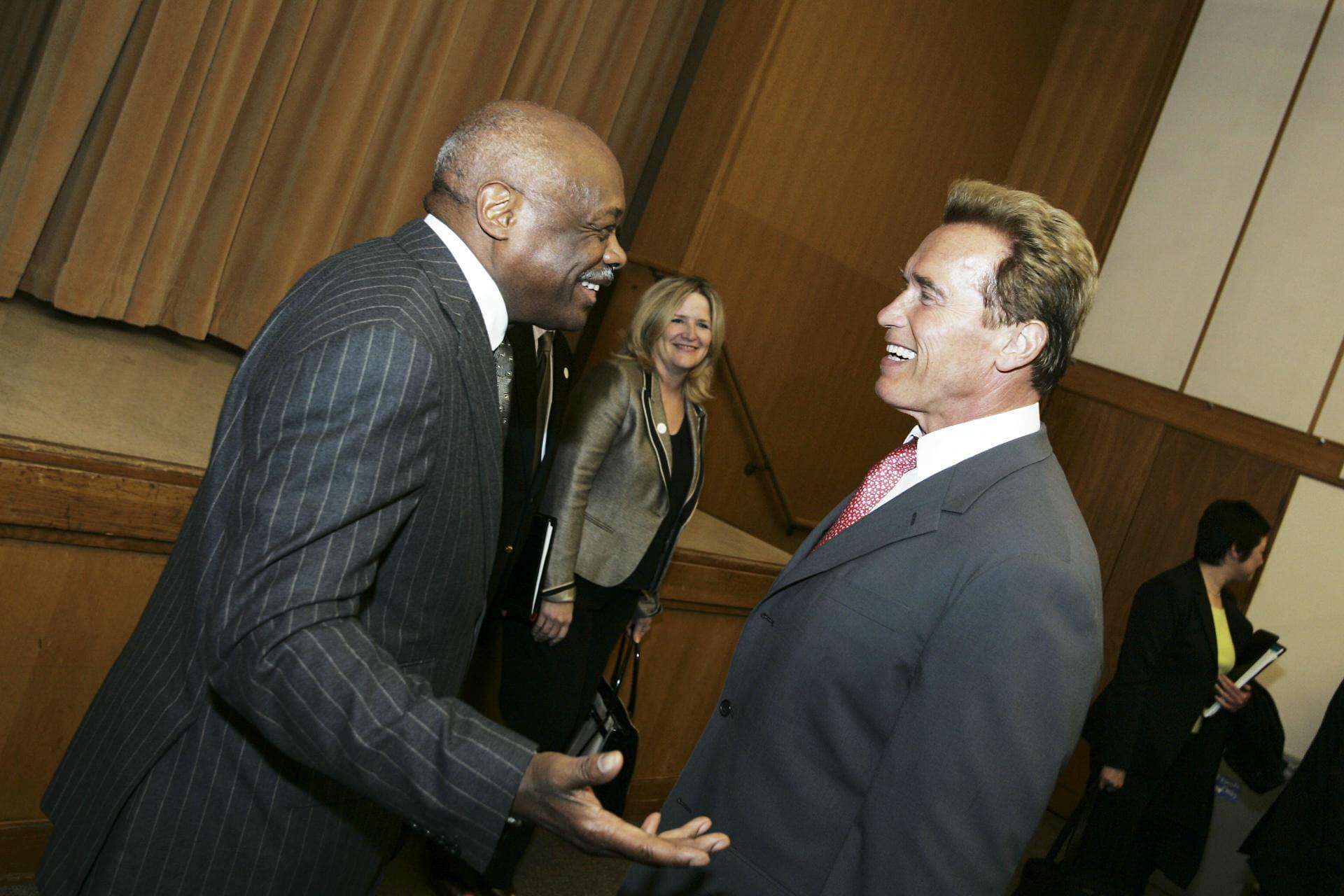 Governor Arnold Schwarzenegger with former San Francisco Mayor Willie Brown