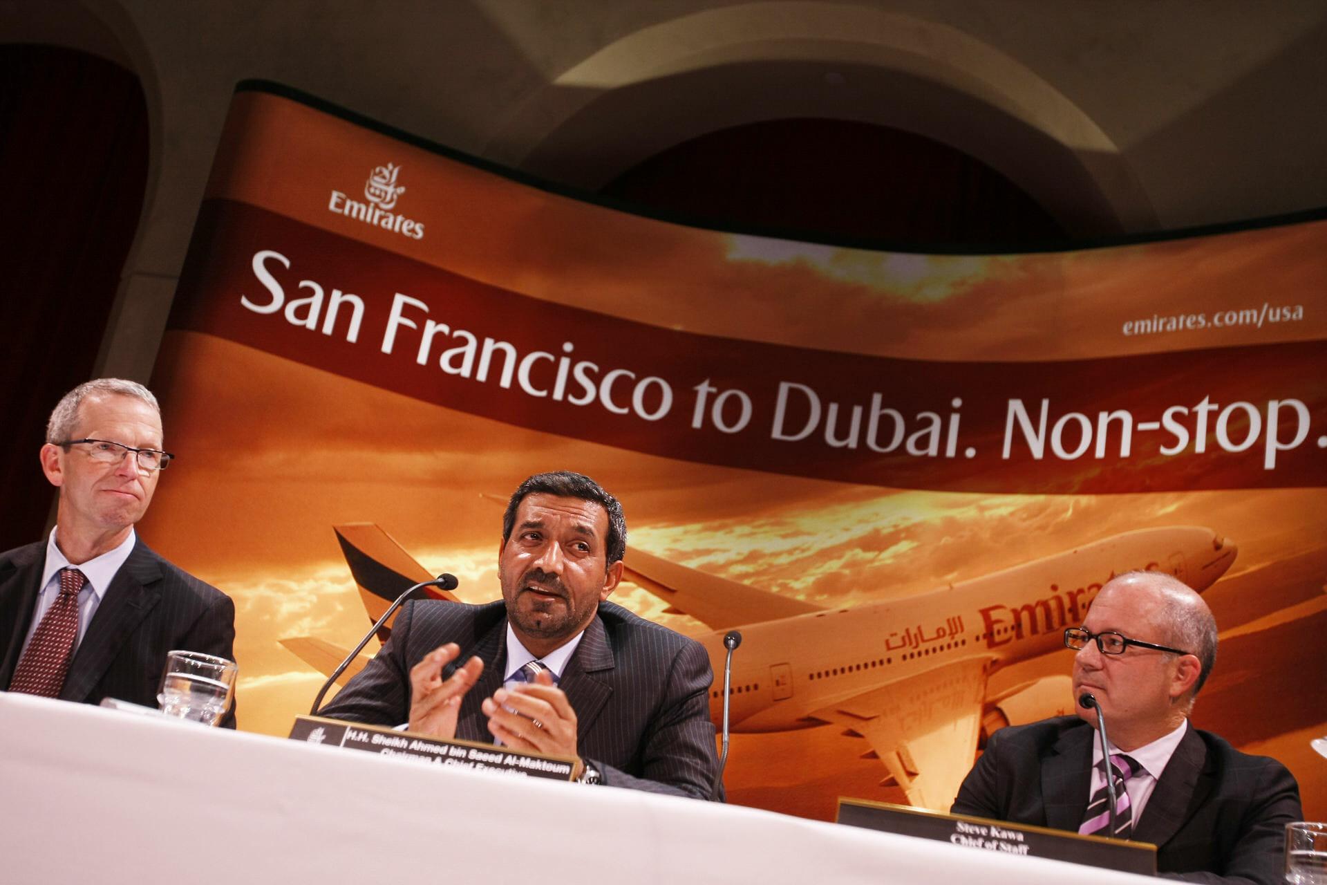 Emirates Air Inaugural Flight @ SFO - San Francisco, CA, USA