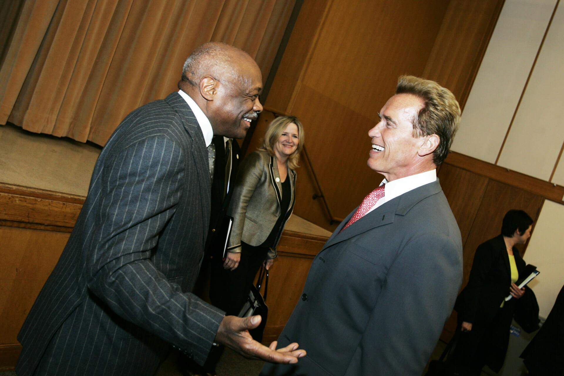 Governor Arnold Schwarzenegger @ PG&E Auditorium, San Francisco, CA, USA