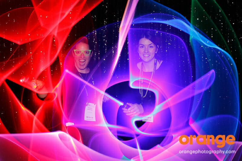Photo Booth Ideas: Light Painting photo booth