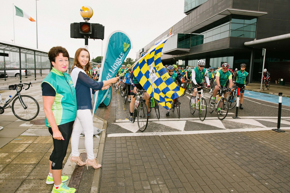 Rose Hynes & Leah Kenny at the starting line. Pic: Brian Arthur
