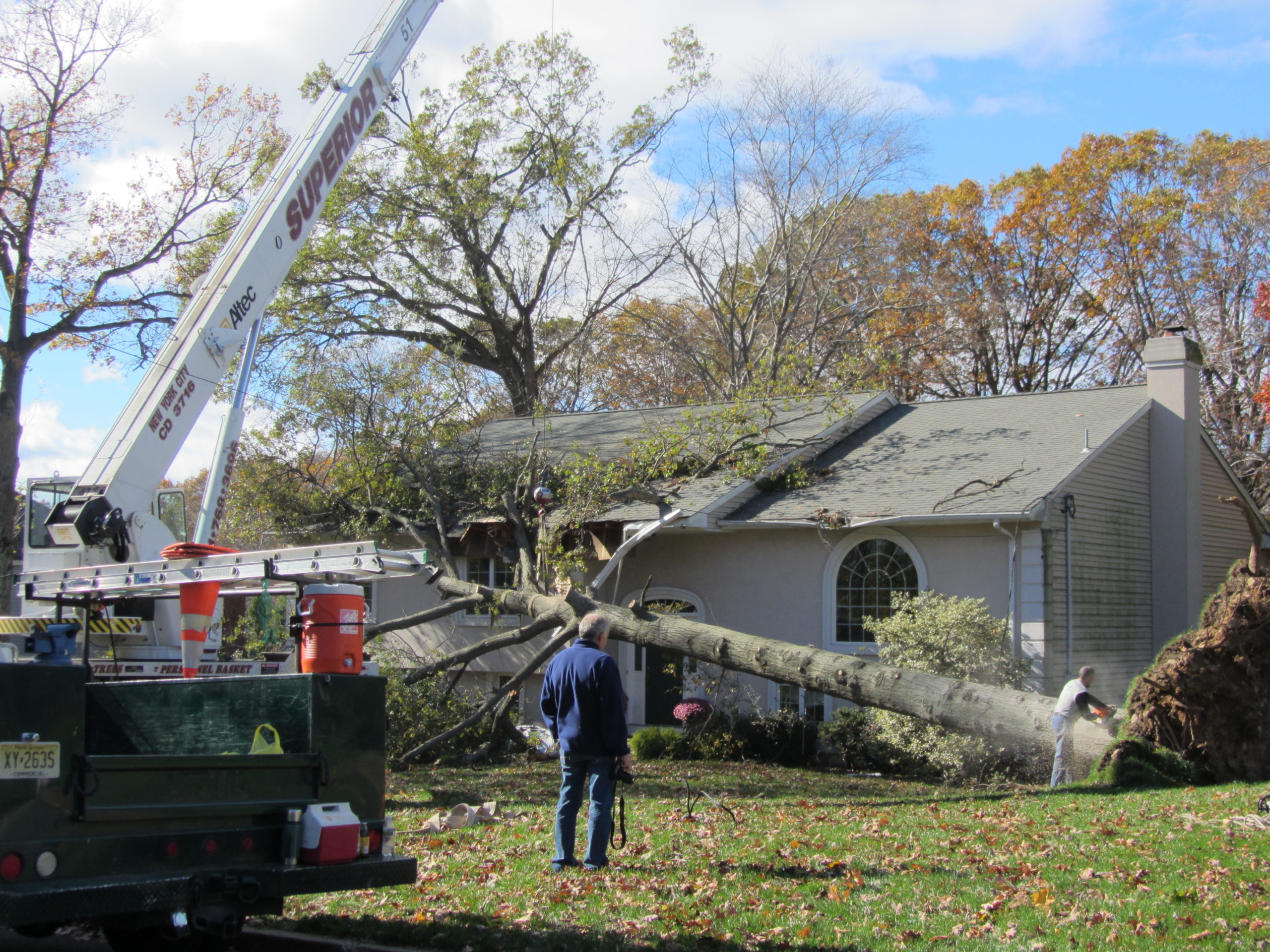 Tree Fell on House - Residential Storm Damage Services NJ