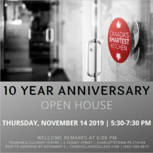 Canada's Smartest Kitchen - 10 Year Anniversary Open House @ Tourism & Culinary Centre