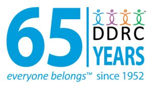 The DDRC's commemorative logo for 65 years.