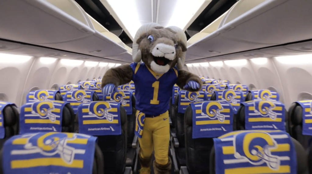 CASE STUDY: American Airline – LA Rams Playoff Hype Video