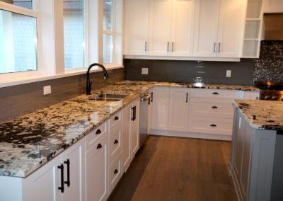 kitchen with corner