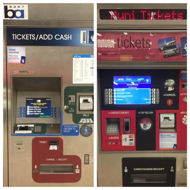 Bart vs Muni -máquinas para a compra do ticket