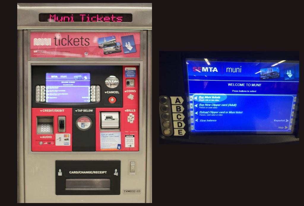 Comprar tickets do Muni