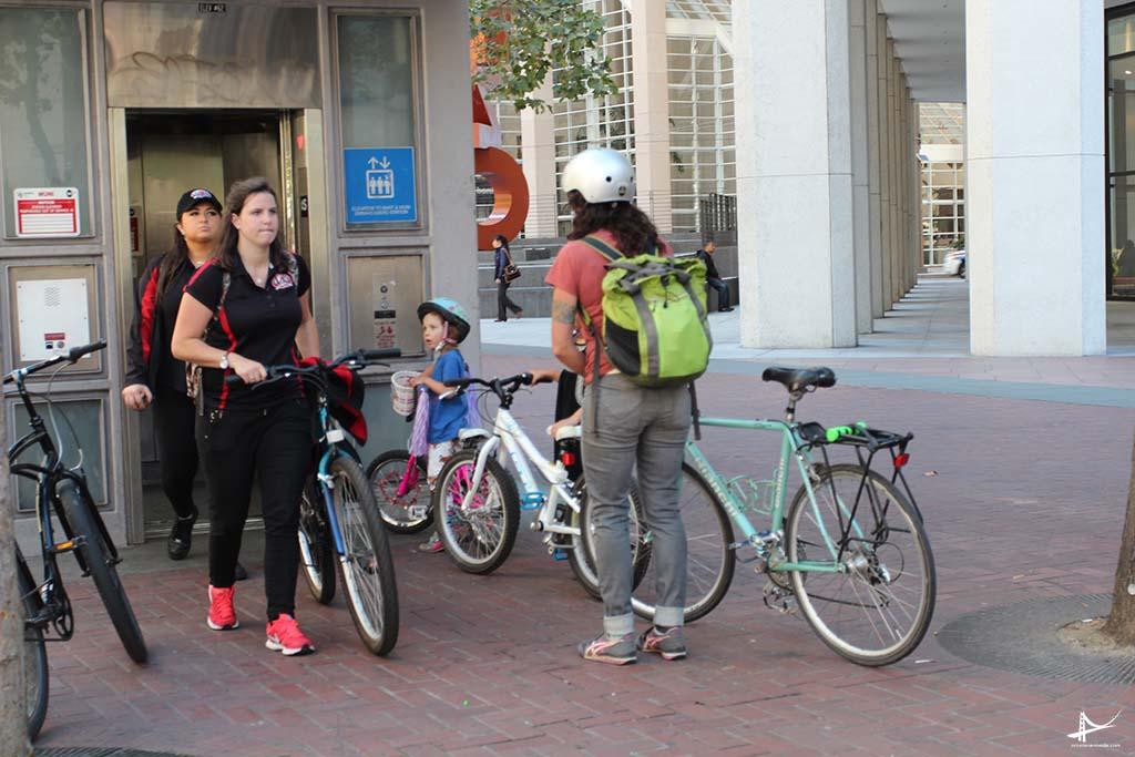 Bicicletas e trasnporte público em San Francisco