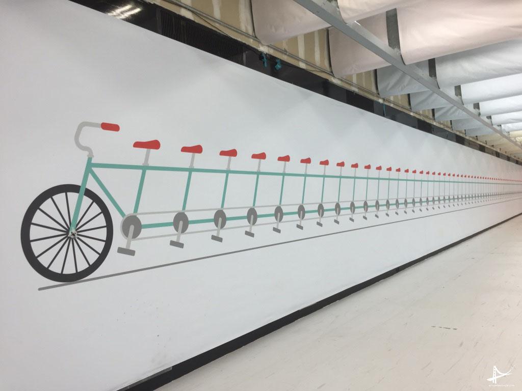 Bicicletas - Mural do Bart em San Francisco
