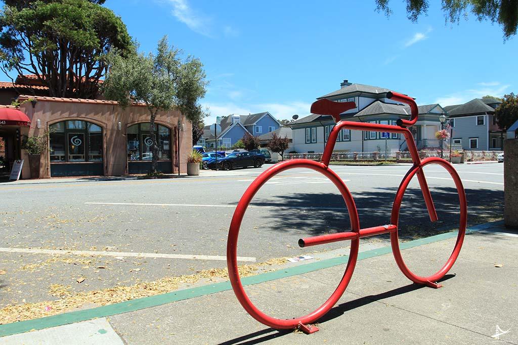 Lugar para cadear as bicicletas