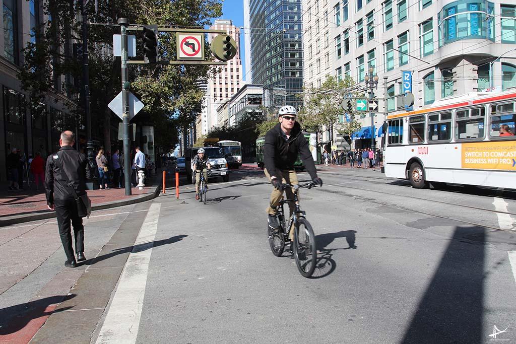 Trabalhar de bicicleta em San Francisco