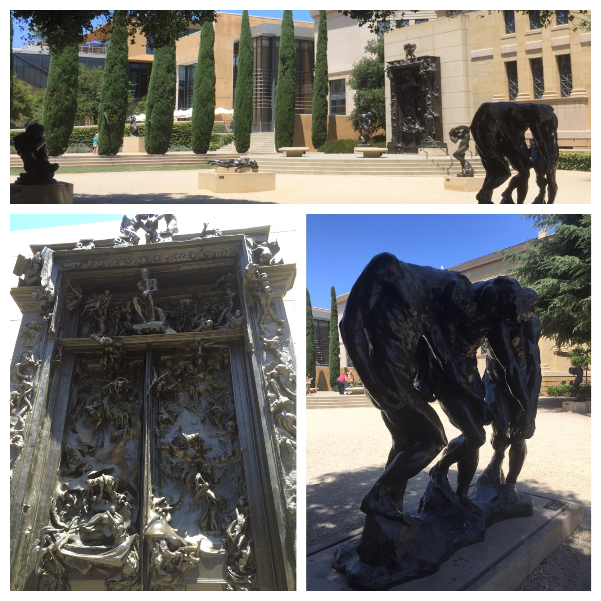 Jardim com as esculturas de Rodin