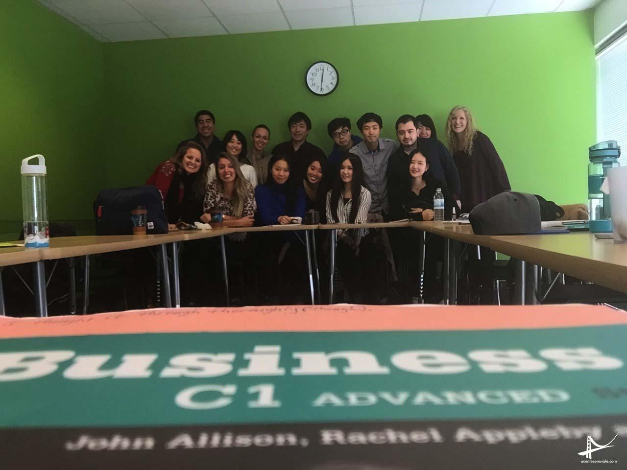 Minha turma de Business English na Intrax