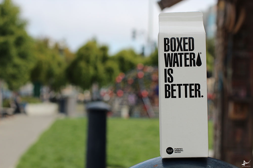 Boxed water em San Francisco