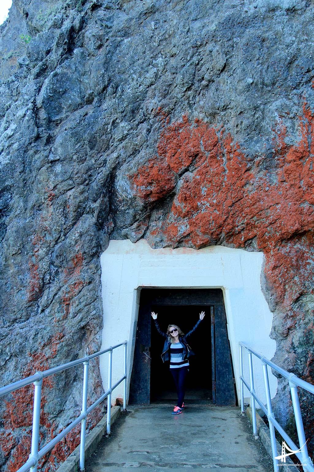 Túnel entrando no Point Reyes