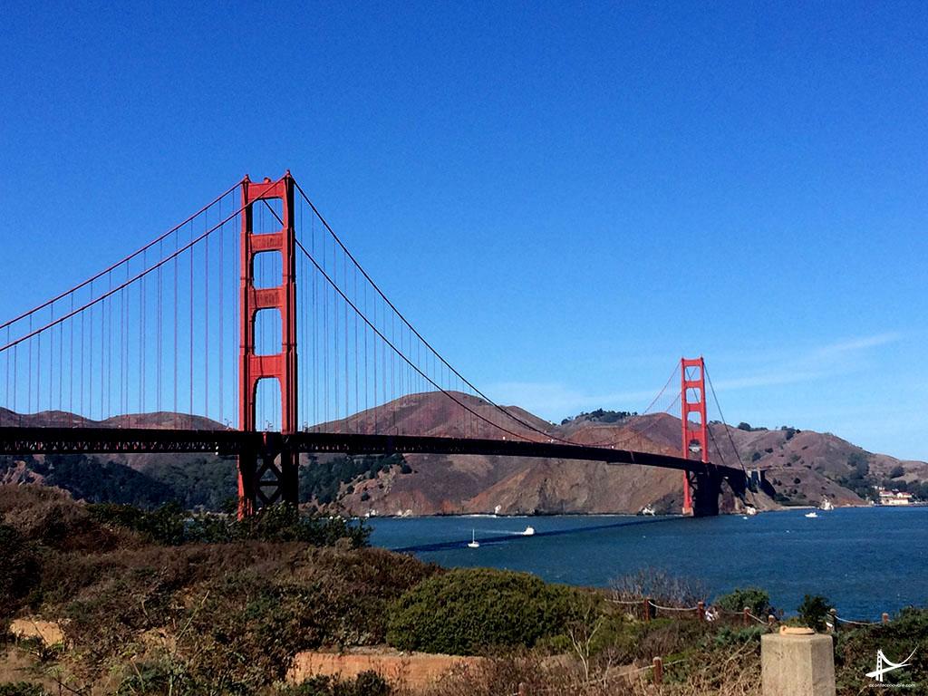 Vista da Golden Gate a caminho de Point Reyes
