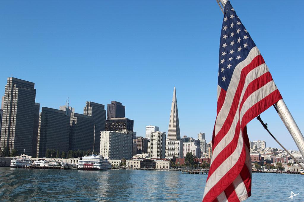 Vista de San Francisco saindo do pier 41