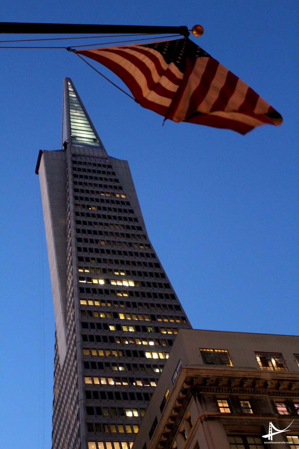 Transamerica Pyramid - o prédio mais alto de San Francisco