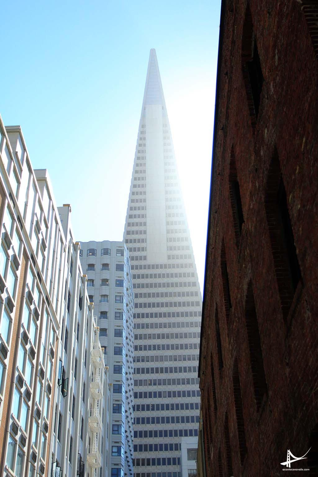 Transamerica building vista da rua