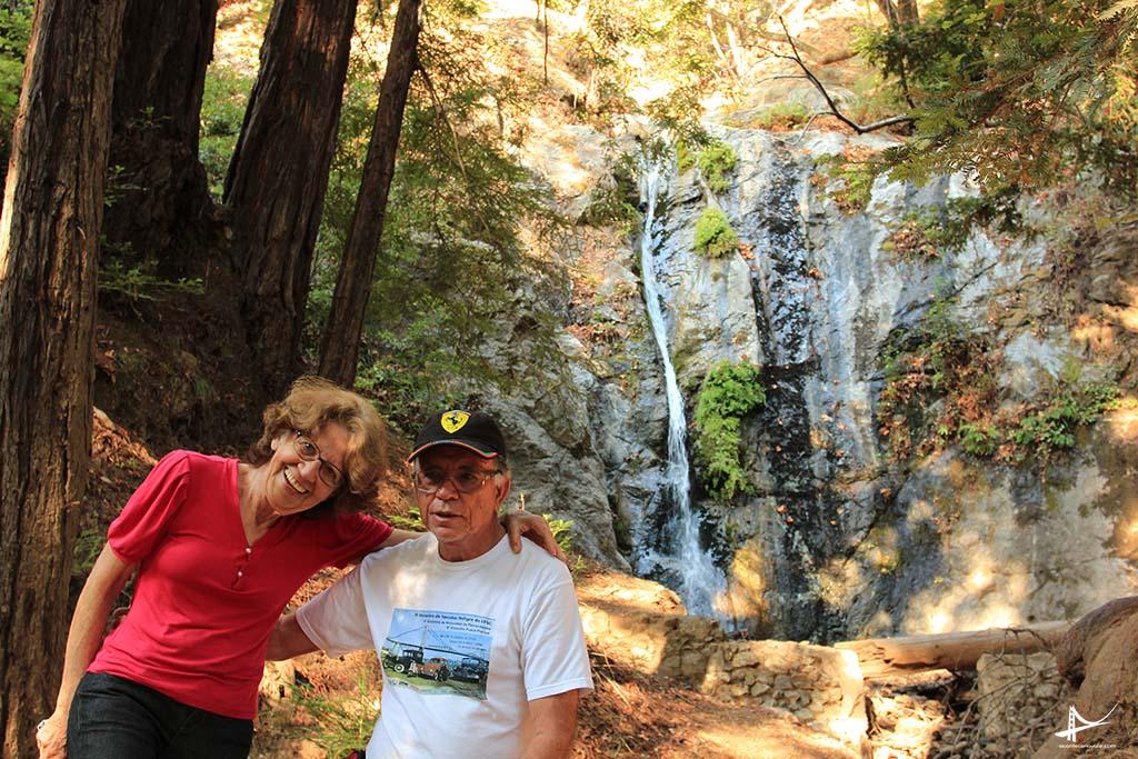 Minha sogrinha na tal cachoeira