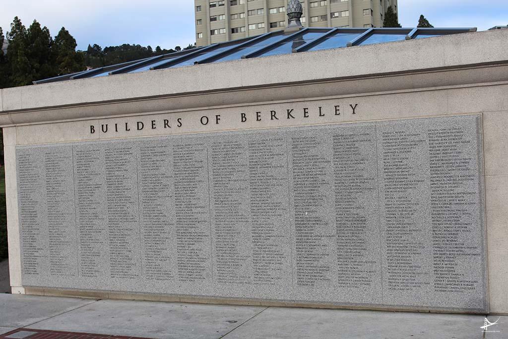 Mural com o nome dos alunos que ajudaram a construir Berkeley
