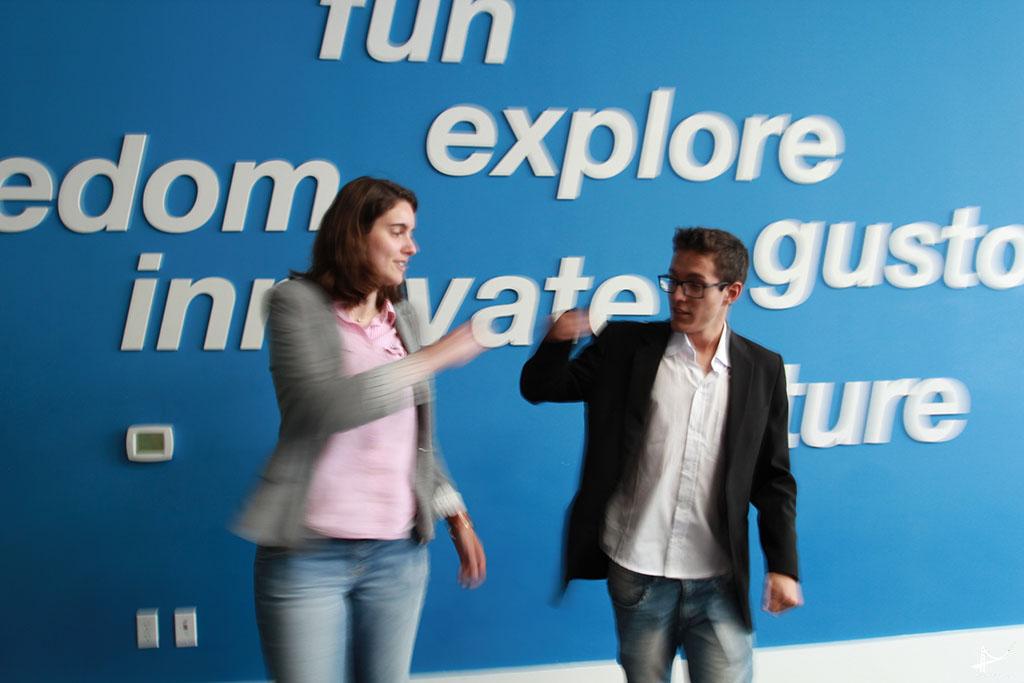 Elisa Mansur e Gabriel Cantarin