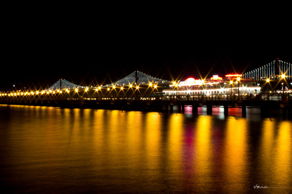 Lights na Bay Bridge