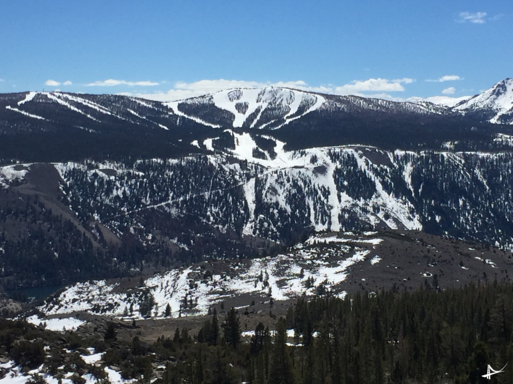 June Mountain vista do alto